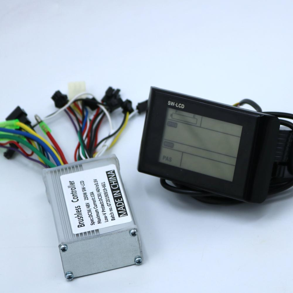 Greentime 36V 48V 250W 350W Brushless DC Motor Controller Ebike Controller +SW900 LCD Display One Set