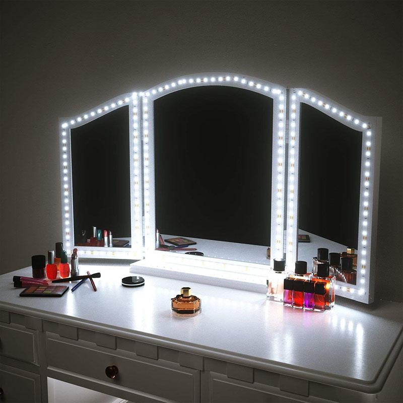 Mirror Makeup Vanity Light 5V USB Flexible LED Light for Mirror DIY Makeup light for TV Backlight 1m-5m Kitchen desk decor light(China)