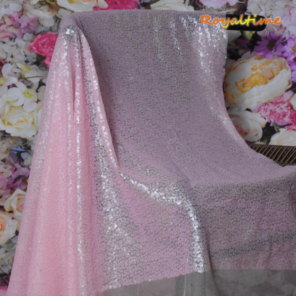 Baby Pink Sequin Fabric 004