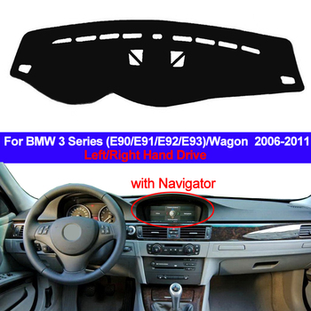Car Auto Dashboard Cover Dashmat Carpet cape Sun Shade 2 Layer For BMW 3 Series E90 E91 E92 E93 Wagon 2006 - 2008 2009 2010 2011 image