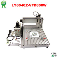 stone metal wood 800w CNC 6040 3 axis CNC Router Engraver/Engraving Drilling and Milling Machine