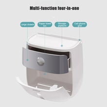 ONEUP Portable Toilet Paper Holder/Dispenser Double Waterproof Storage Box, Wall Mounted