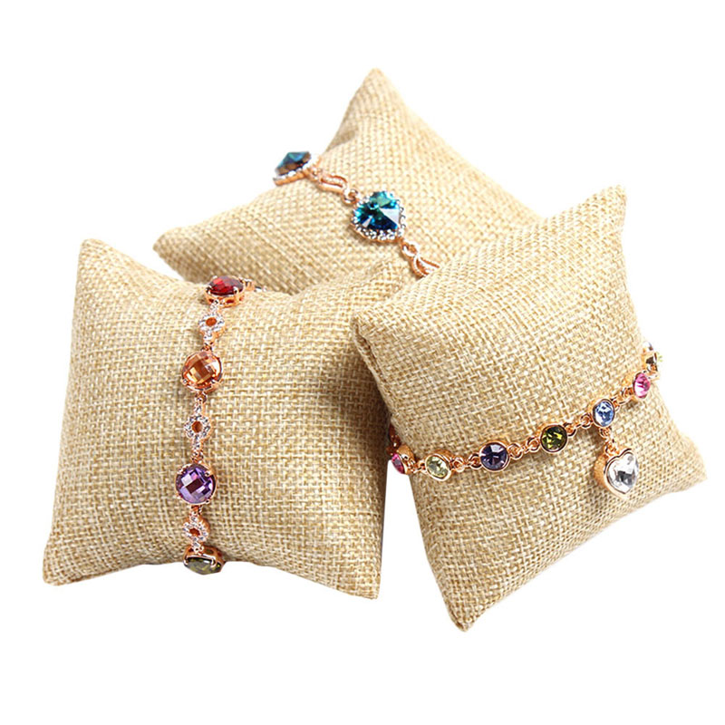 Small Pillow Cushion Bracelet Bangle Wrist Watch Jewelry Display Holder Showcase
