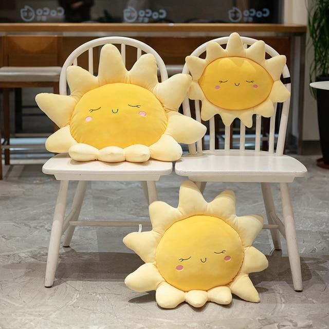 1Pc Sleepy Sun Pink Blue Clouds Pillows Elastic Plush Ultra Soft Stuffed Throw Pillows For Babies Children Cot Car Decor Props 2