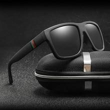 Gafas de sol polarizadas para hombre y mujer, lentes cuadrados para el sol, retro de marca famosa, unisex