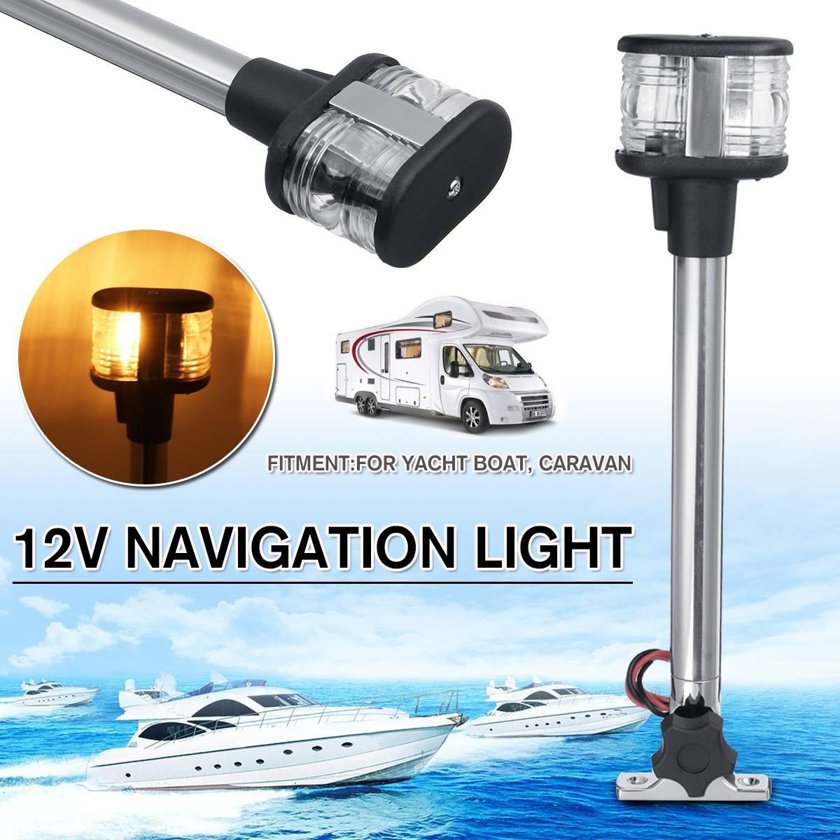 NEW DC12V 37.5cm Fold Down Marine Boat LED Navigation Lights Marine Boat Yacht Stern Anchor Light LED Sailing Light Lamp(China)