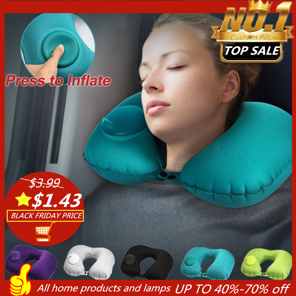 2020 New Protable Soft U-Shape Travel Cushion Pillow For Car Airplane Inflatable Neck Pillow Travel Accessories Protection
