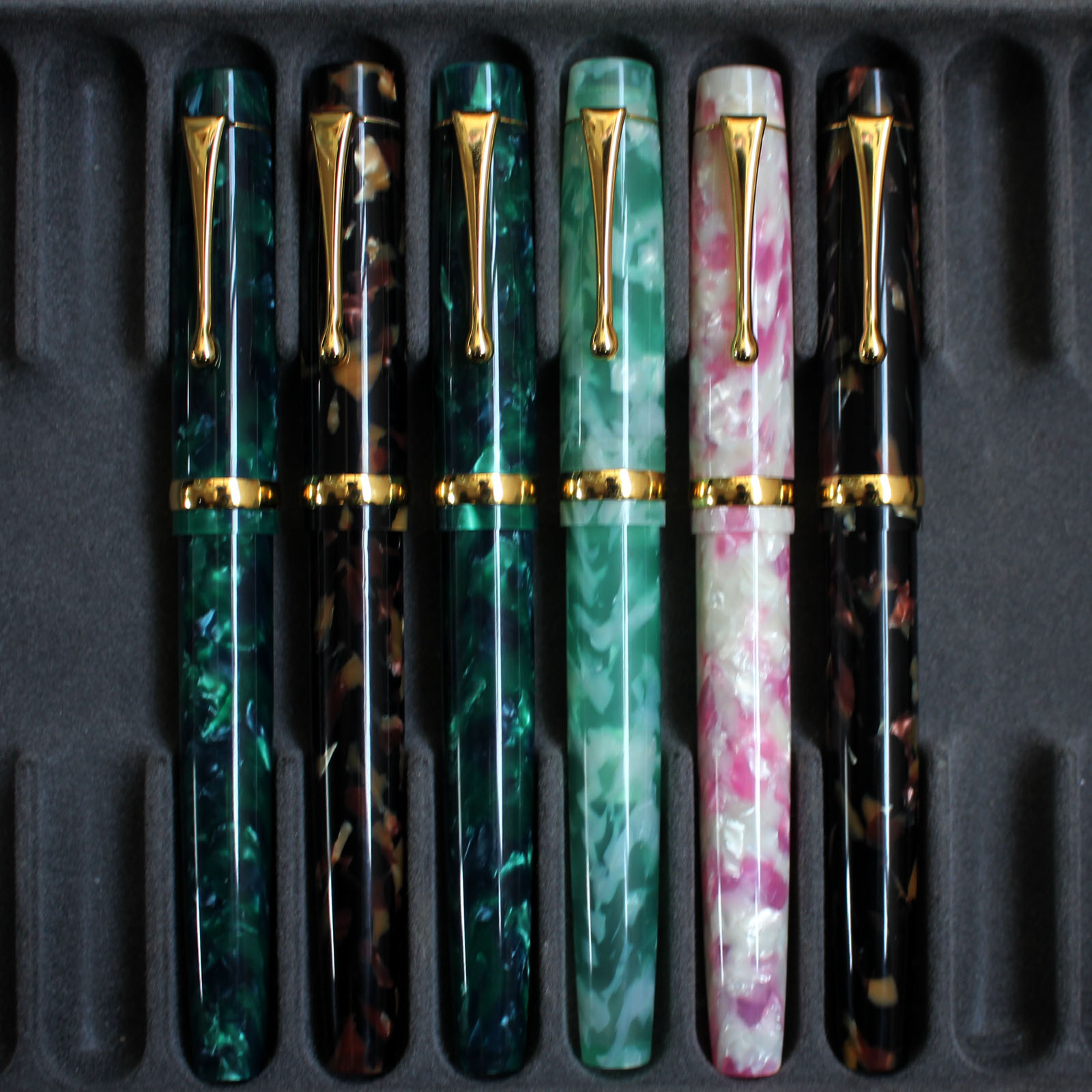 OEM Resin Fountain Pen Beauiful Ink Pen Converter Filler Fine Nib Business Stationery Office School Supplies Writing Gift