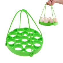 Силиконовая подставка для яиц на пару силиконовая Пароварка с ручкой прочная кухонная утварь Портативная подставка для яиц