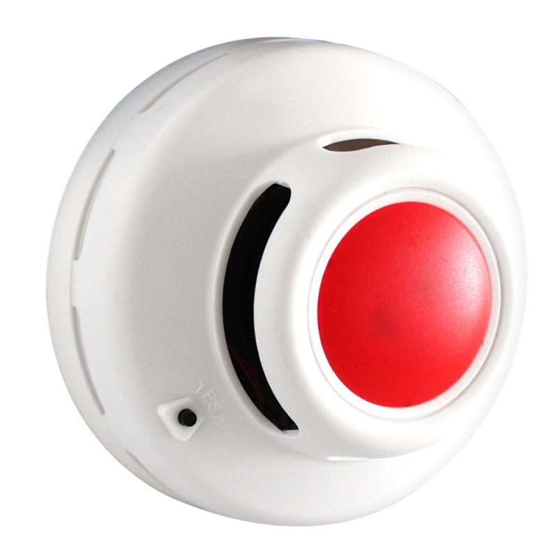 Round Shape Standalone Smoke Detector Fire Alarm Battery Power Security Alarm