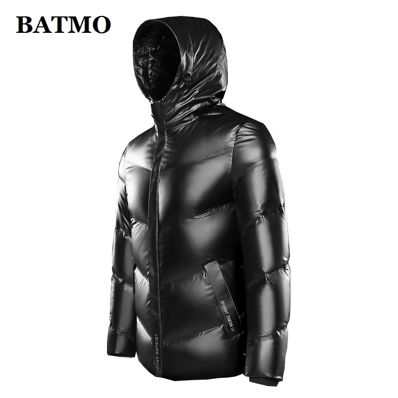 BATMO 2019 New Arrival Winter High Quality 80% White Duck Down Hooded Jackets Men,waterproof Down Coat 9928