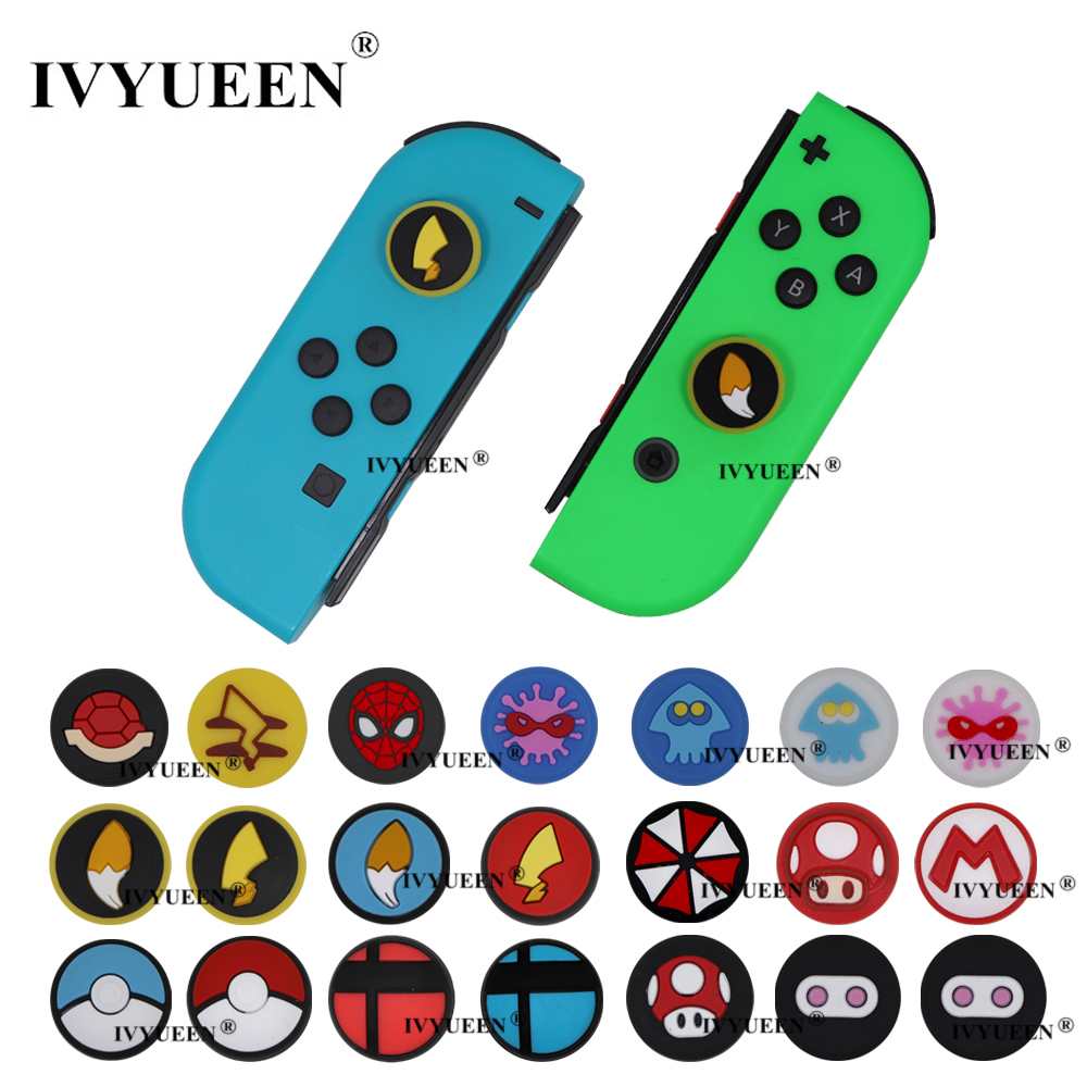 IVYUEEN Analog Thumb Grips For Nitendo Switch Lite NS JoyCon Controller Stick Cap For Nintend Switch Mini Joy Con Joystick Cover