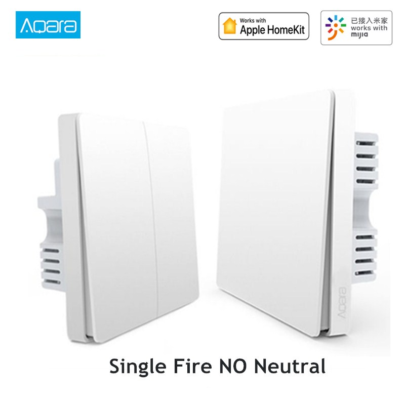Aqara Smart Wall Light Switch Single Fire Line Light Remote Control Wireless Key Wall Switch Without Neutral Mi Home APP