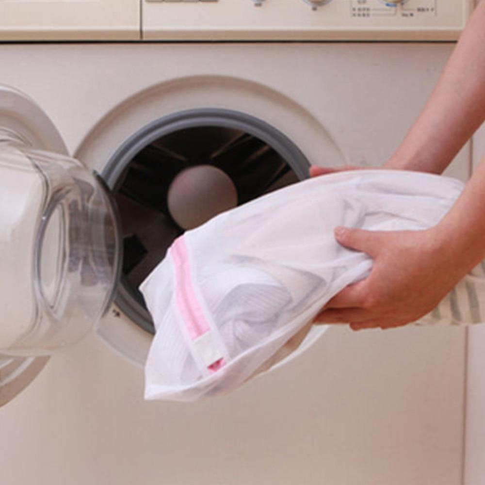 2Pcs 50x60cm Underwear Clothes Aid Bra Drawstring Bra Socks Laundry Bags Washing Machine Household Net Mesh Bag Cleaning Tools