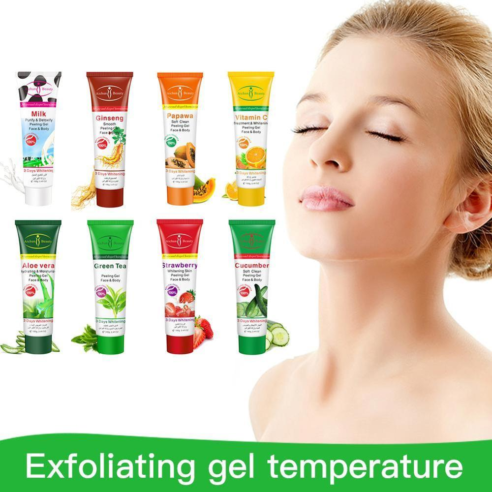 Aichun Beauty Fruit Exfoliating Cream Scrub Peeling Gel Face Body Skin Moisturizing Face Whitening Cream Hand Body Care