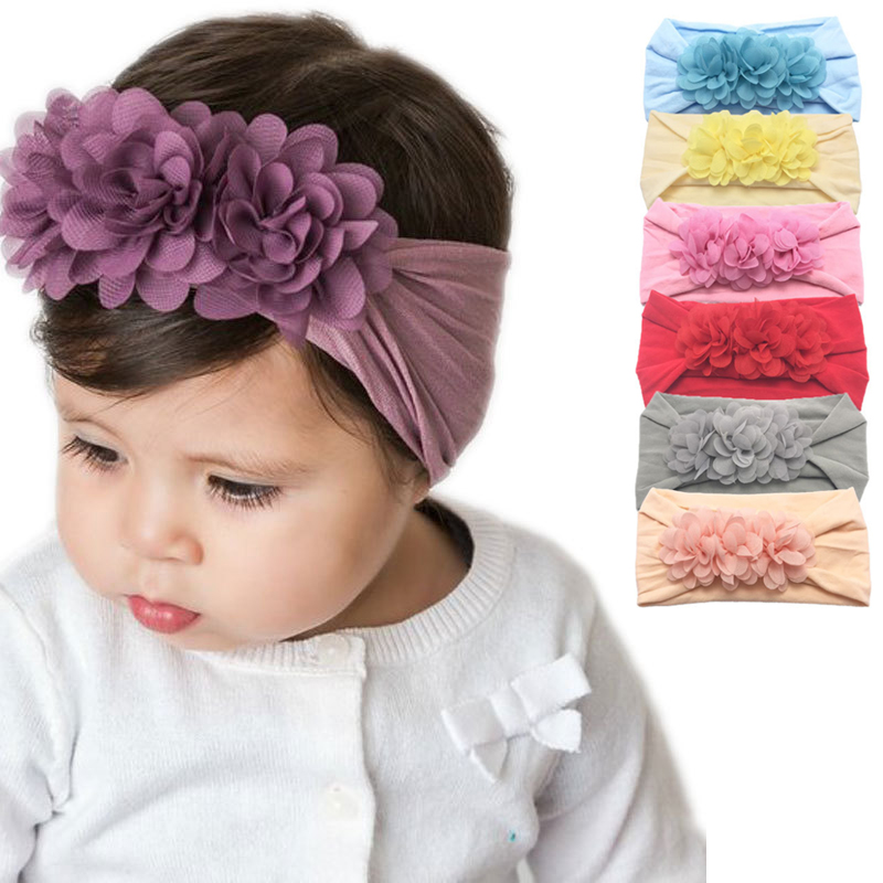 Flower Baby Headband Super Soft Turban Hairband Bow Kids Baby Girl Headbands Hair Bands For Baby Girls Headband Hair Accessories