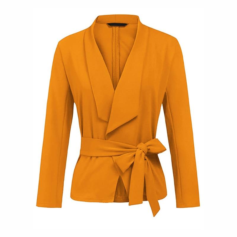 2019 Blazer Korean Suit Slim Suit And Tie Suit Bleser Feminino Rosa Bebe Long Sleeve V-neck Women Casual Short Blazer Feminino