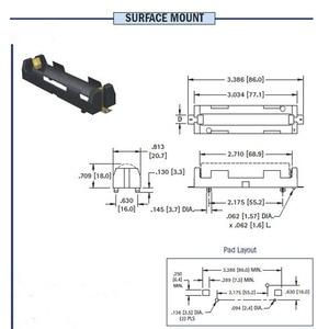 Image 5 - ABS 18650 כוח בנק מקרי 1X 2X 18650 סוללה מחזיק תיבת אחסון מקרה 1 2 חריץ סוללות מיכל עם קשה פין SMT אבזר