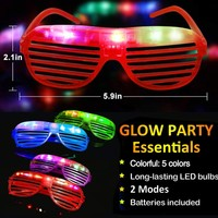 Personality Reusable Glow 24pcs/set In The Dark Party Supplies LED Glasses Light Up Glasses Bar Dance Party Neon Party