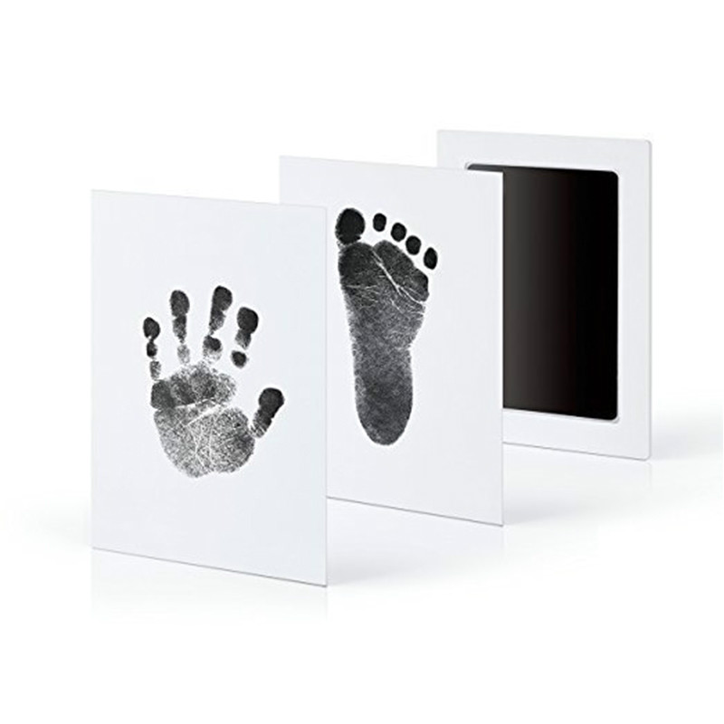 Baby Care Non-Toxic Baby Handprint Newborn Gifts Baby Infant Souvenirs Ink Casting Clay Toy Pad Imprint Kit Footprint Footprint
