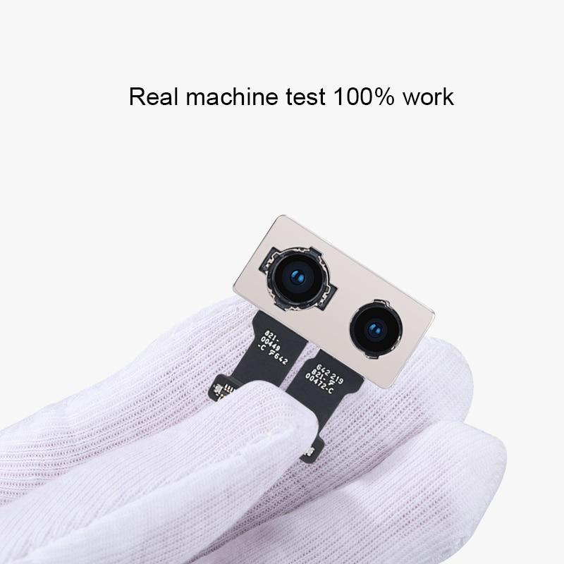 Câmera traseira principal original com substituição do cabo flexível do sensor do módulo do flash para o iphone x xr xs 5 5S se 6s 7 8 mais xs max