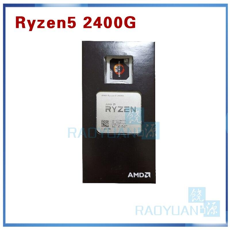 New AMD Ryzen 5 2400G R5 2400G 3.6 GHz Quad-Core Quad-Thread 65W CPU Processor YD2400C5M4MFB Socket AM4