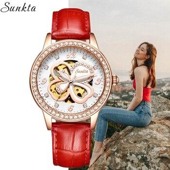 sunkta automatic watch women reloj mujer relogio feminino montre femme women watches zegarek damski relojes para mujer montre