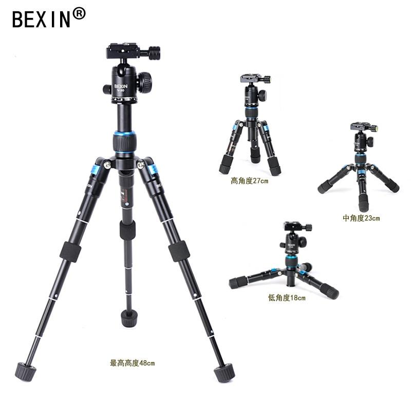 Trípode telescópico para cámara de vídeo de aleación de aluminio mesa de teléfono mini trípode móvil portátil DSLRs Mini trípode/ligero - 4