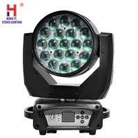 Stage Light Moving Head LED 19x15W RGBW 4in1 Zoom Wash Effect Moving Light DMX Dj Light Good for Disco Bar Party Wedding