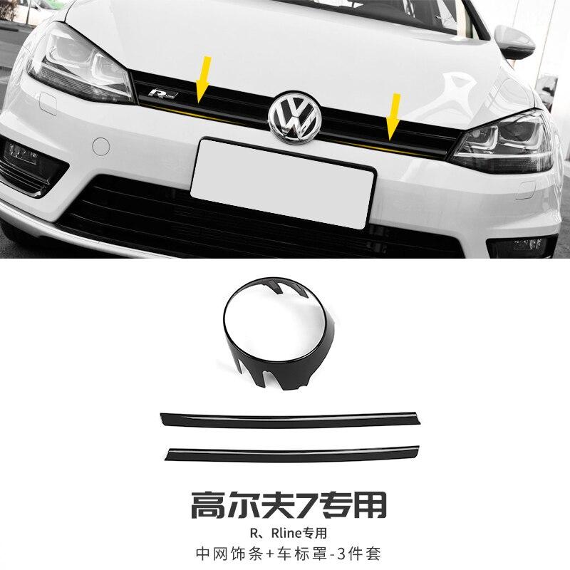 Декоративная сетчатая отделка для Volkswagen Golf 7 MK7, 14-17, Модифицированная специальная передняя планка, яркая лента, аксессуары для наклеек