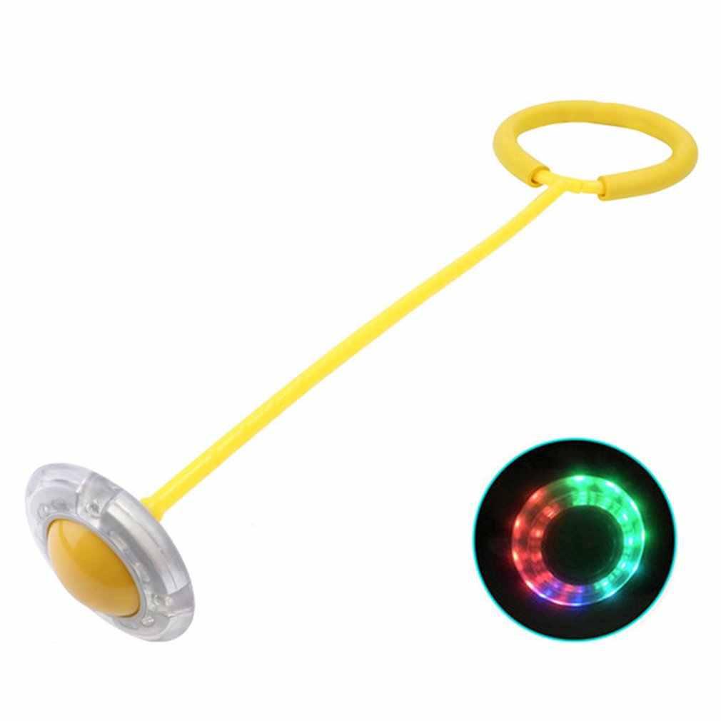 Flash Jumping foot force Ball diversión para los niños al aire libre juguete deportivo LED Aro para saltar círculo bola niños-juegos para Padres