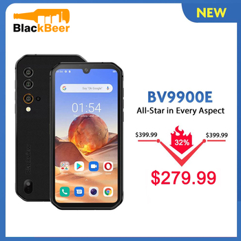 Blackview BV9900E IP68 Rugged Smartphone 6GB+128GB Waterproof Mobile Phone 48MP Camera Android 10 4G LTE Cellphone 4380mAh NFC original android 10 0 mobile phone blackview bv6300 pro helio p70 6gb 128gb smartphone 4380mah nfc ip68 waterproof rugged phone