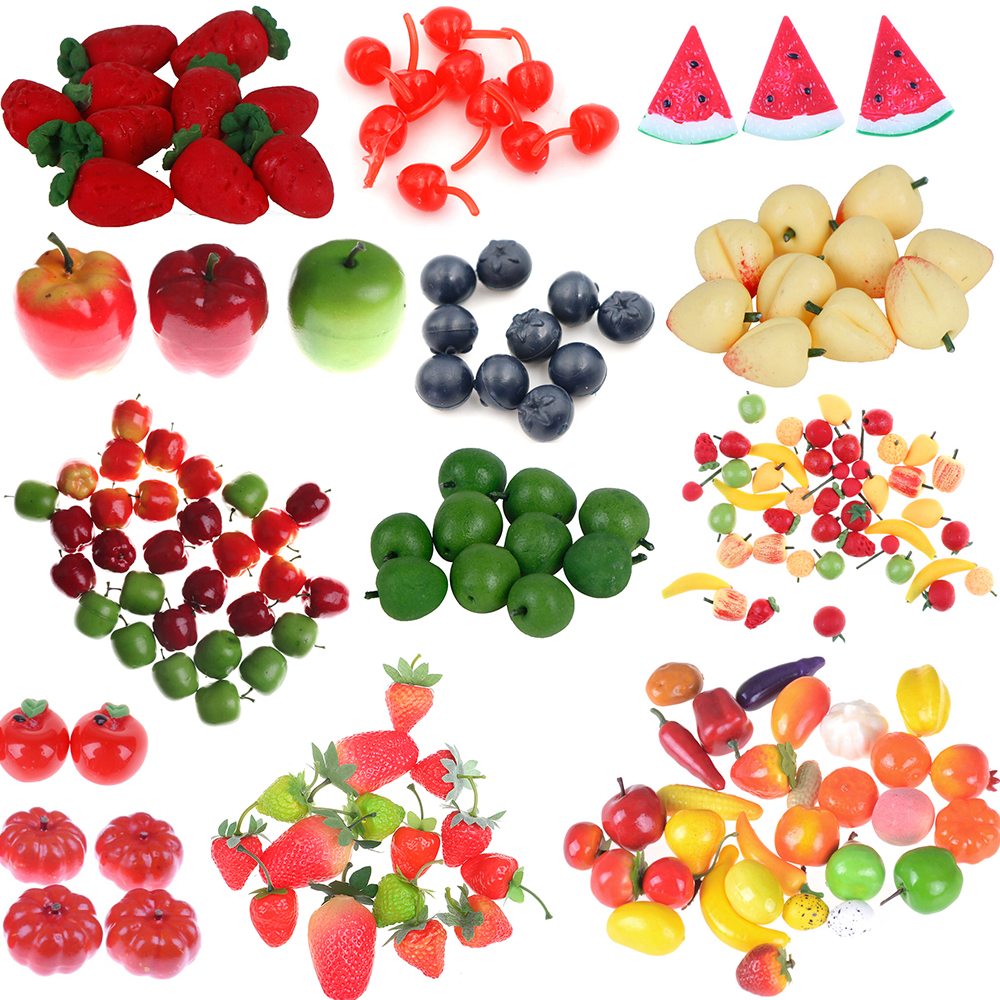 Artificial Fake Miniature Food Fruit Play DollHouse Toy Decorative Craft Kawaii DIY Embellishment Dollhouse Kitchen Accessories