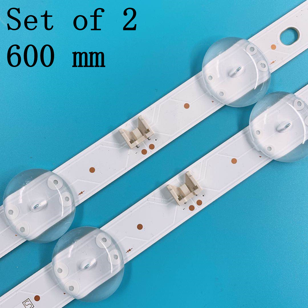 (New Kit)2 PCS 8LEDs 600mm LED Backlight Strip For LG 32LJ510U SSC_32LJ61_HD S SSC_32LJ61_HD_8LED_REV03_170224