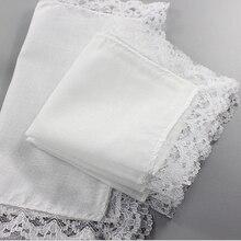100%Cotton Handkerchiefs Hankies Wedding Pocket Pure-White 12pcs Men 25cm--25cm Square