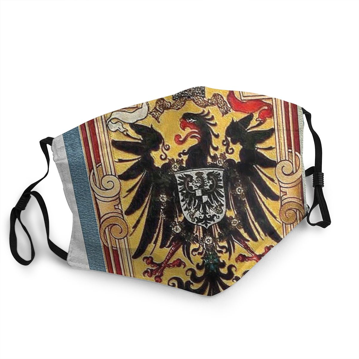 Kaiserzeit German Flags And Eagle Germany Men Women Reusable Mouth Face Mask Anti Haze Dustproof Protection Cover Respirator