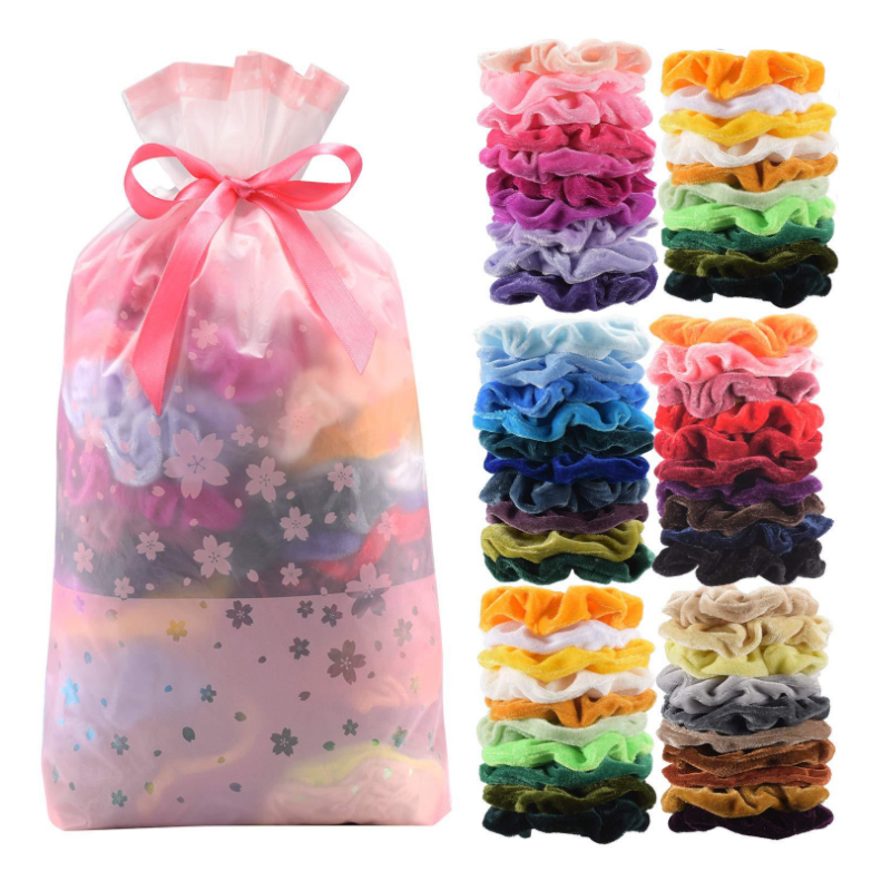 10PCS/Pack Velvet Elegant Elastic Hair Scrunchies Hair Accessories Women Headbands Girls Ponytail Holder Headdress