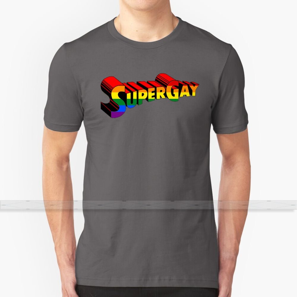 Super Gay For Men Women T Shirt Tops Summer Cotton T - Shirts Big Size S - 6XL Lgbt Gay Community Gay Pride <font><b>Viral</b></font> Iconic Popular image