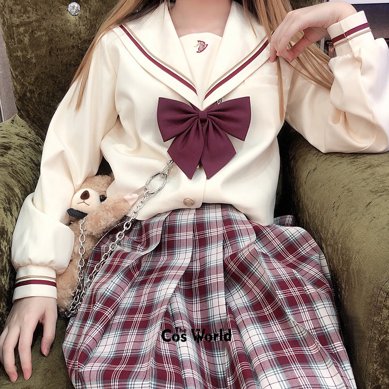 [Kurasame] Girl's Summer High Waist Pleated Skirts Plaid Skirts Women Dress For JK School Uniform Students Cloths