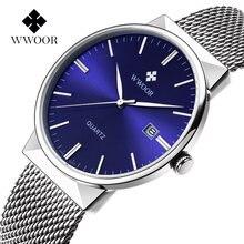 Wwoor модные мужские часы Топ бренд класса люкс повседневные
