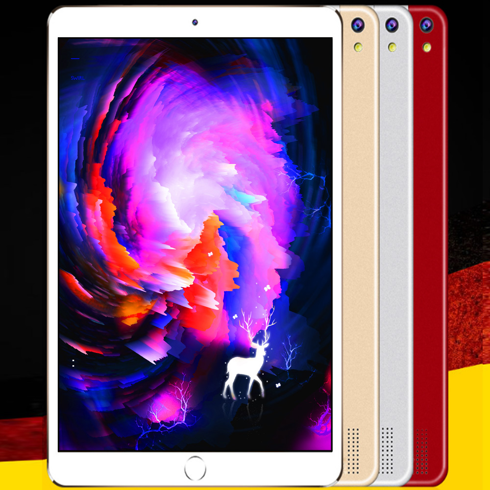 10.1 Inch Android 8.0 Octa Core Tablets Pc 6GB RAM+128GB ROM Support Mobile Phone SIM Card Call Dual SIM Card Slot 5000Mah