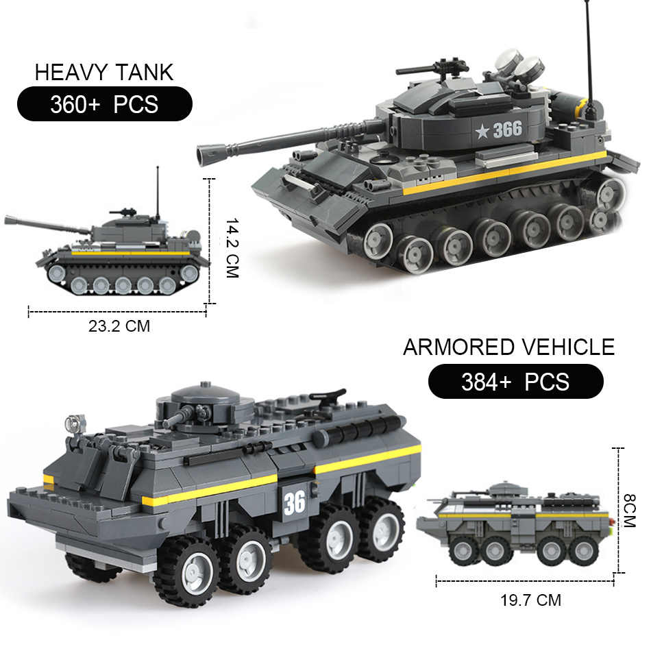 Military Vehicles For Sale >> 4 Styles Military Vehicles Armored Car Pick Up Truck Tank With Soldier Building Blocks Compatible Legoed Ww2 German Bricks Toys