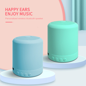 Macaron Bluetooth Portable Speaker Wireless Speakers Stereo Loudspeaker Mini Column Music Bass 5W Outdoor Speaker Waterproof
