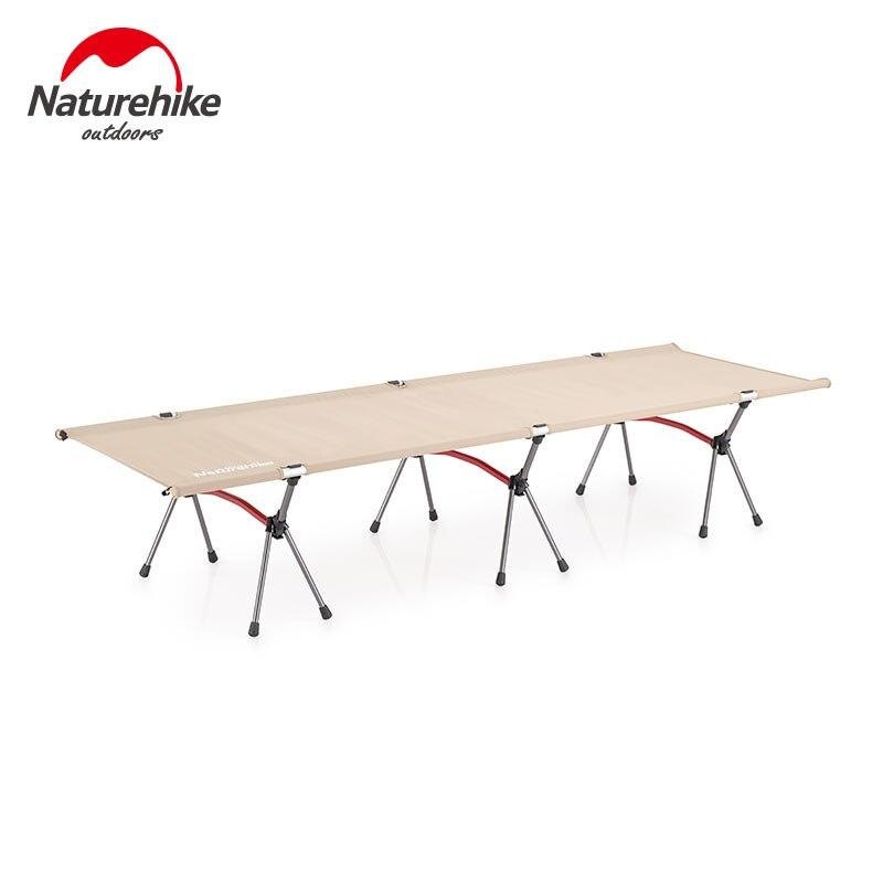 naturehike cama esteira de acampamento portatil tenda berco dobravel resistente escritorio unico dobravel cama caminhadas viagem