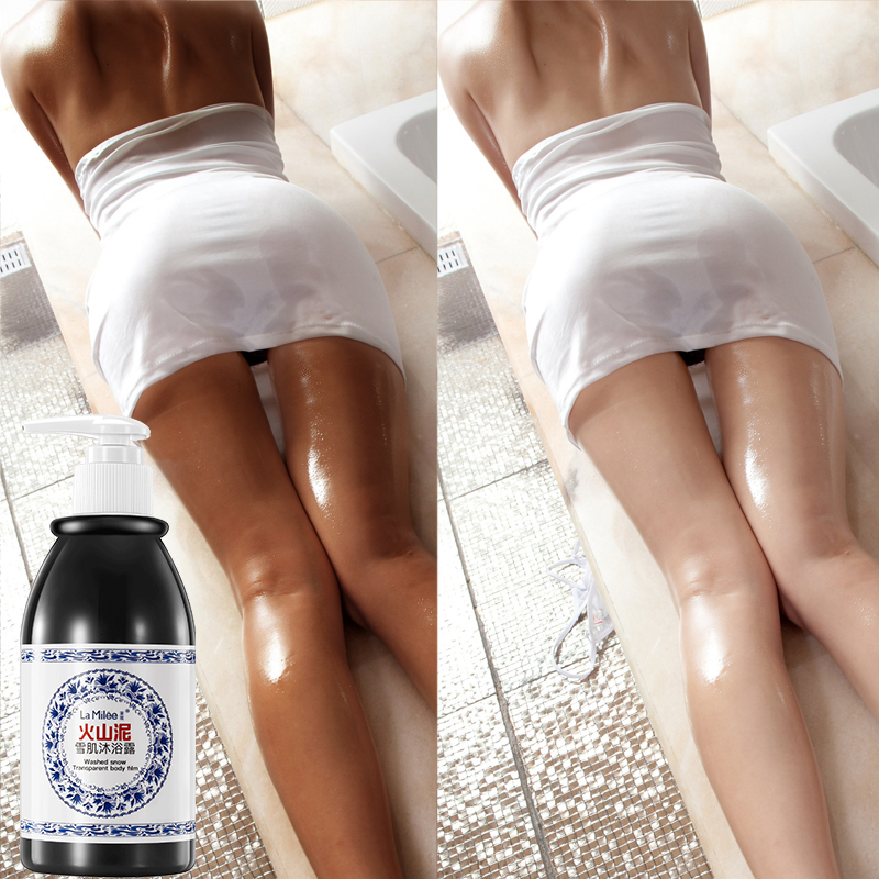 La Milee Volcanic Mud Shower Gel Whole Body Wash Fast Whitening Deep Clean Skin Moisturizing Exfoliating Body Care 250ml