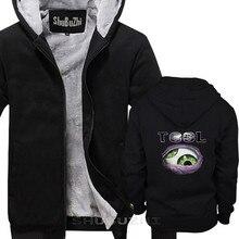 TOOL 1 BAND men thick jacket sweatshirt hoodie black  ROCK men black pullover winter autumn cotton hoodiesweatshirt sbz5401