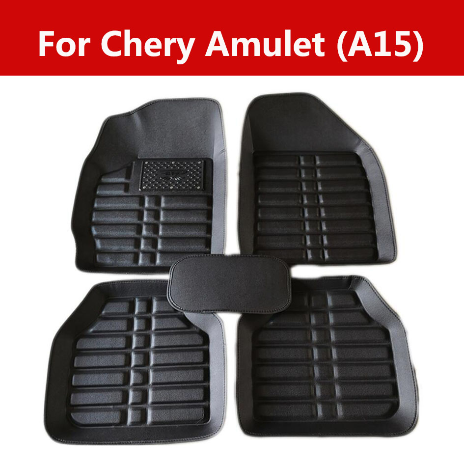 Car Wind Leather Auto Floor Carpet Mat For <font><b>Chery</b></font> Amulet (<font><b>A15</b></font>) Full Protection Car Accessories image