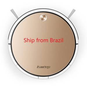 Isweep X3 Robot Vacuum Cleaner APP Control 1800 PA Wet and Dry Auto Recharge EU Plug English Version Ship from China and Brazil