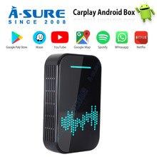 A-Sure Universal Carplay Wireless Android 4K CarPlay Decoding Box GPS Wifi For VW Tiguan L Polo Golf Passat B7 BMW AUDI BENZ