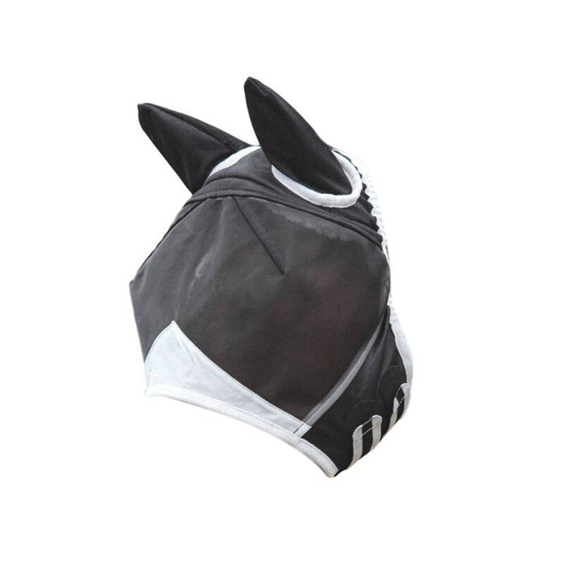 Máscara de malla desmontable de caballo máscara de mosca antimosquitos IBOWS 22cm * 30cm tela de cuero sintético cuerno caballo Arco Iris tela estampada para DIY lazos para el pelo bolsos hechos a mano materiales artesanales